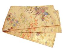 鳳凰四季花文様袋帯