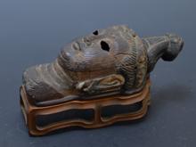 木製仏頭像