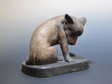 木彫像  犬