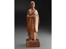 木彫像 尼僧