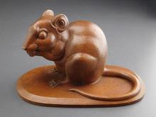 木彫像 鼠
