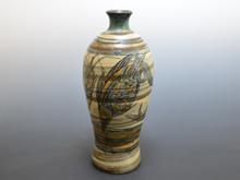 海老魚彫文 大花瓶