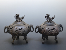 中国古銅製三足付香炉