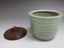 板谷波山 青磁香炉