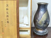 服部時計店製 銀製花瓶