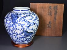 白磁 藍染付 花瓶