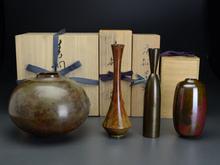 銅 唐銅 朱銅 花瓶