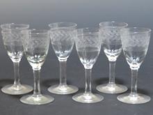 アンティークガラス ワイングラス
