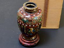 七宝花鳥文花瓶