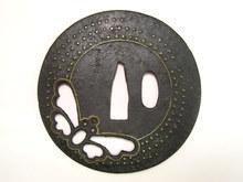蝶図金象嵌