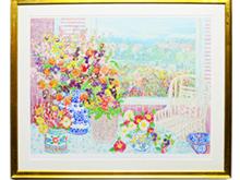 「窓辺の花束」