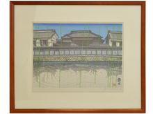 「栃木」 木版画