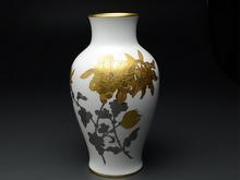 大倉陶園 金彩 金蝕菊大花瓶