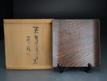 蟷螂(カマキリ) 木彫菓子盆