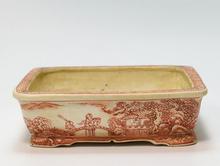 勝山 赤絵 盆栽鉢