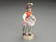 オールドマイセン 陶器人形