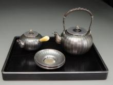 純銀製 煎茶道具