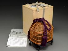 駿河竹工芸 大和型虫籠