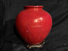 珊瑚釉花瓶