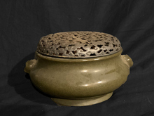 銀火屋 茶葉末釉 香炉