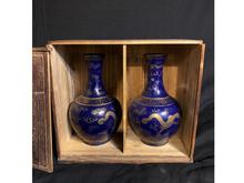 瑠璃釉金彩花瓶 一対