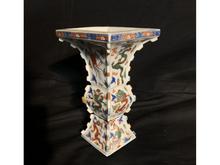 南京赤絵尊式花瓶