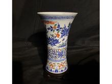 中国染付赤絵青花花瓶