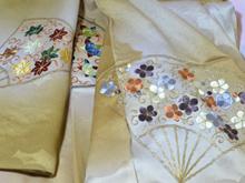 アンティーク刺繍着物