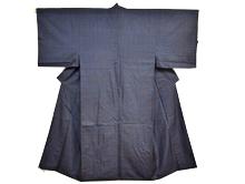 男物大島紬亀甲柄 藍色