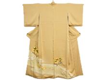 松絵手箱金糸刺繍色留袖