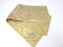 鴛鴦四季草花文様袋帯
