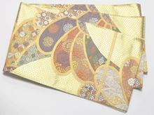 刺繍金箔吉祥紋様袋帯