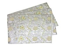 銀糸鳳凰唐草文様袋帯