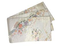 四季花文様唐織袋帯