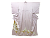 金箔銀糸刺繍菊文様色留袖