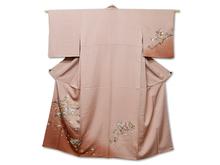 日本刺繍 四季花鶴文様訪問着