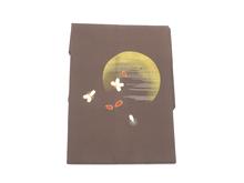 塩瀬月と桜手描名古屋帯