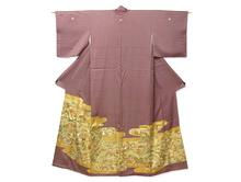 金彩雲取に刺繍秋草 色留袖