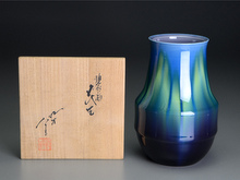 九谷焼彩釉薬花瓶