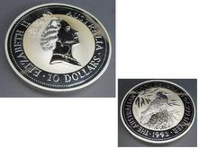 純銀  オーストラリア 1992年 10ドル