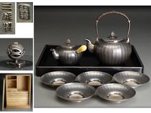 純銀 煎茶器