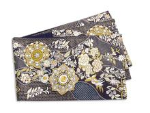汕頭刺繍唐花文様袋帯
