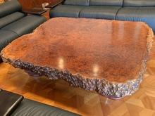 花梨葡萄杢一枚板座卓
