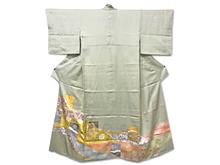 金箔唐花日本刺繍色留袖