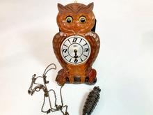 フクロウ目玉時計