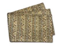 金糸刺繍段文様袋帯