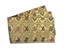 金糸菱文様袋帯
